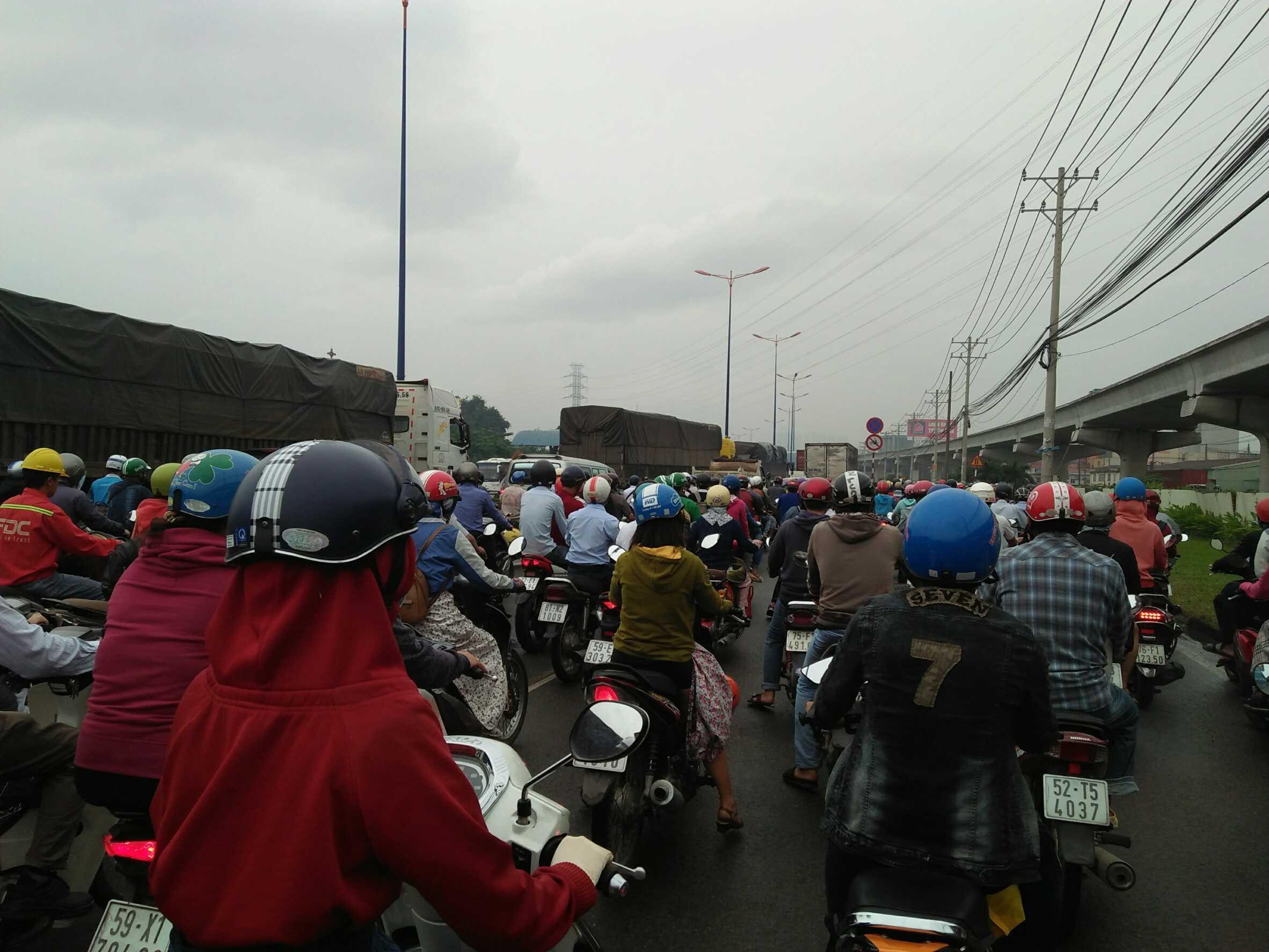 バイクの渋滞