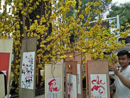 ベトナム お正月 テト 黄色い菊