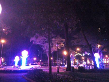 ベトナム ホーチミン統一会堂前 4月30日公園