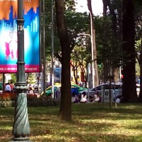 「ホーチミン統一会堂前にある4月30日公園について」