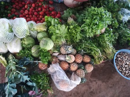 ベトナム北部・サムソン市 ローカル市場 クアンチャウ市場