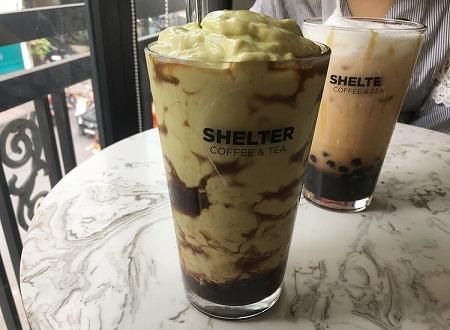 ベトナム ホーチミン アボカドコーヒー Shelter Coffee and Tea