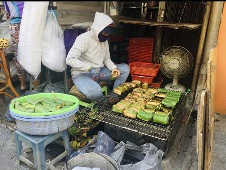ベトナム ホーチミン デリバリー バナナちまき おやつ