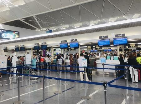セントレア空港韓国エアラインカウンター