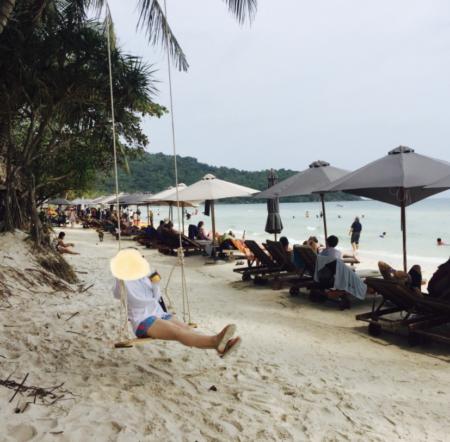 ベトナム・フーコック島のビーチ