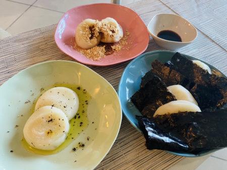 日本風にアレンジしたベトナムの餅たち