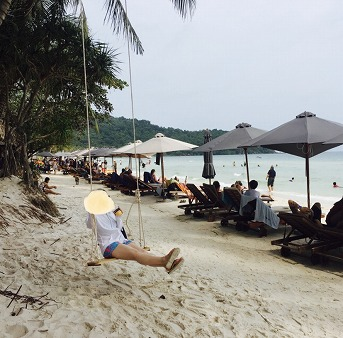 ベトナムフーコックのビーチ