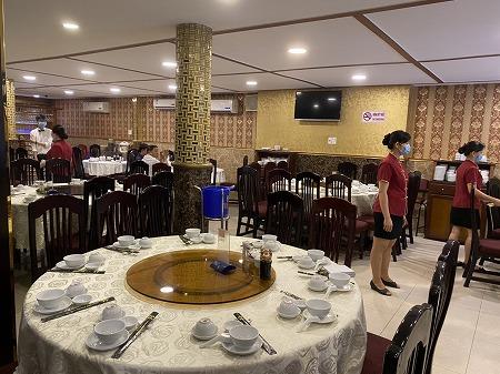 ホーチミン5区の中華レストラン 2階エリア