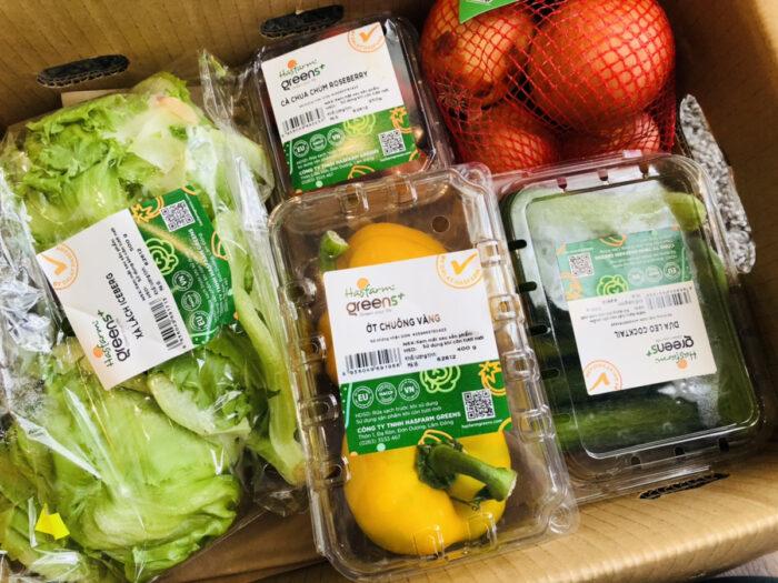 箱詰めの野菜セット